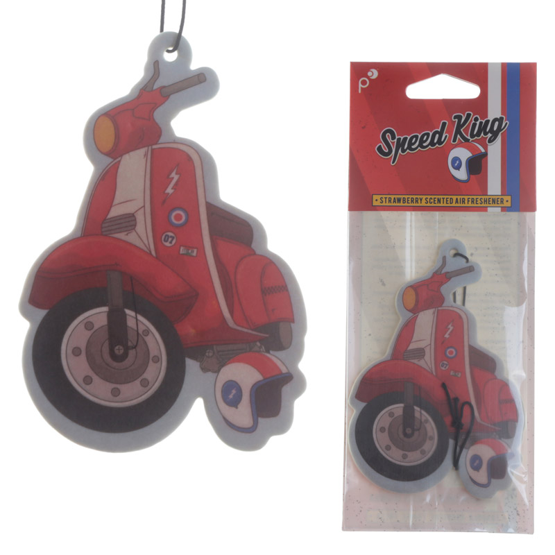 Scooter Design Strawberry Scented Air Freshener
