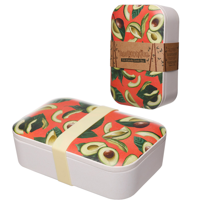 Avocado Design Bamboo Eco Friendly Lunch Box
