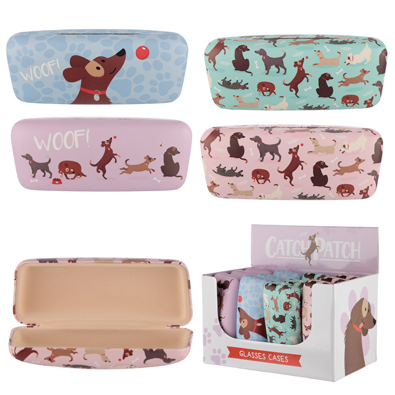 Catch Patch Dog Design Sunglasses Case