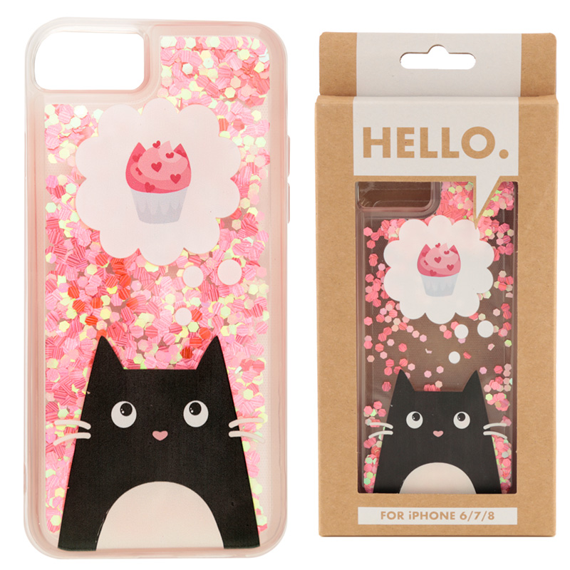 Feline Fine Cat Design iPhone 6/7/8 Phone Case