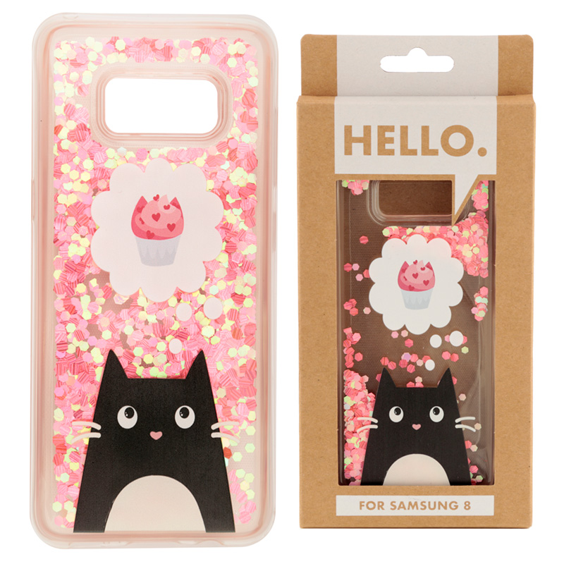 Feline Fine Cat Design Samsung 8 Phone Case