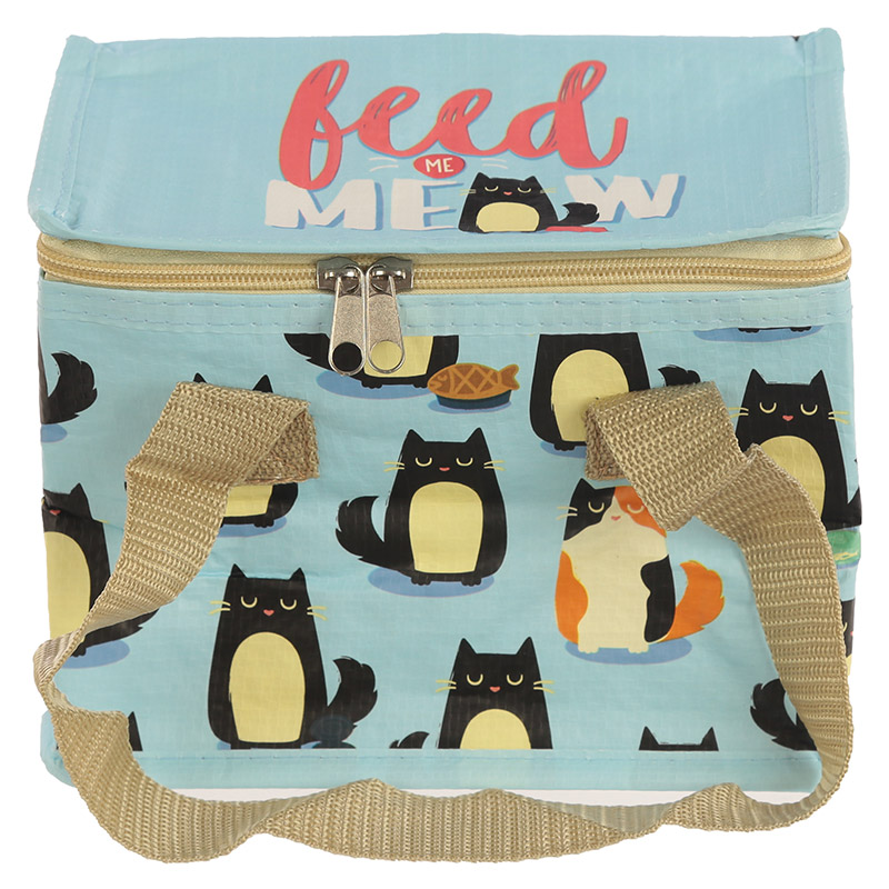 Feline Fine Cat Design Lunch Box Cool Bag