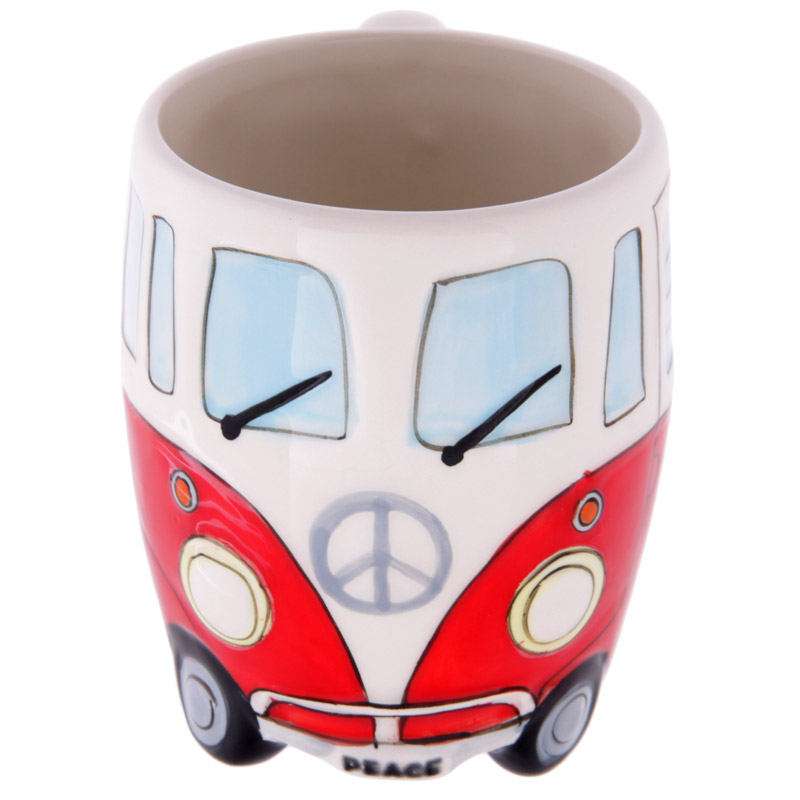 Green Camper Van Design Ceramic Mug