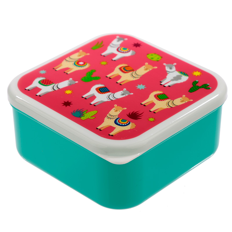 Llama Design Set of 3 Plastic Lunch Boxes