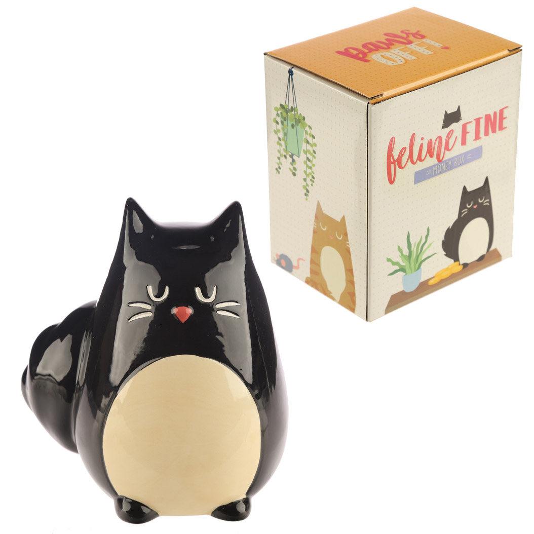 Black Cat Shaped Collectable Ceramic Money Box