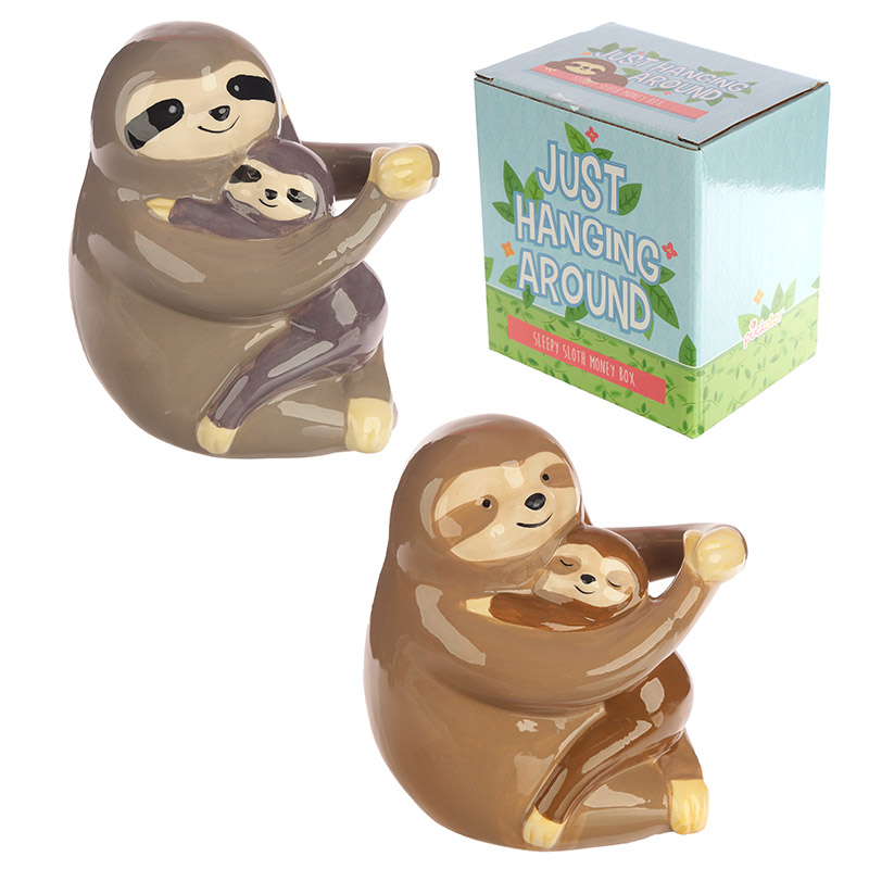 Sloth and Baby Design Fun Collectable Money Box