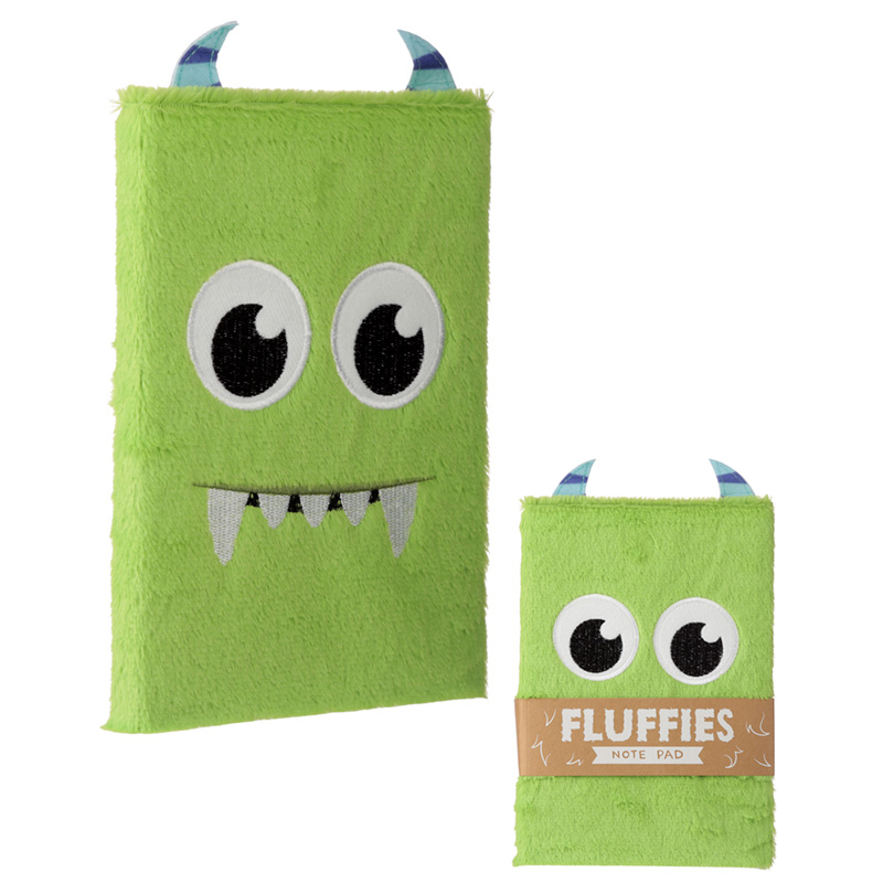 Monster Design Fluffy Plush Notebook