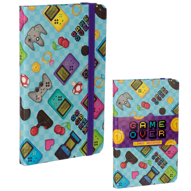 Retro Gaming Design Collectable Hardback Notebook