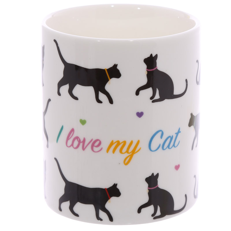 I Love My Cat New Bone China Mug