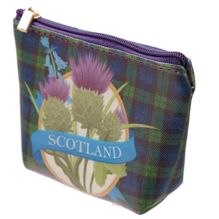 Bonnie Scotland Handy PVC Make Up Bag Purse