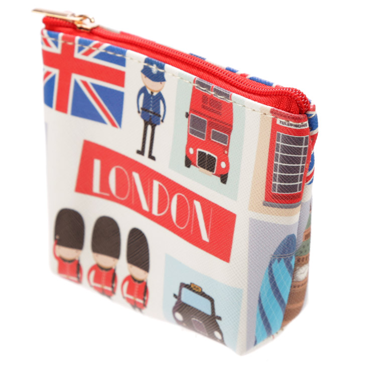 London Icons Handy PVC Make Up Bag Purse