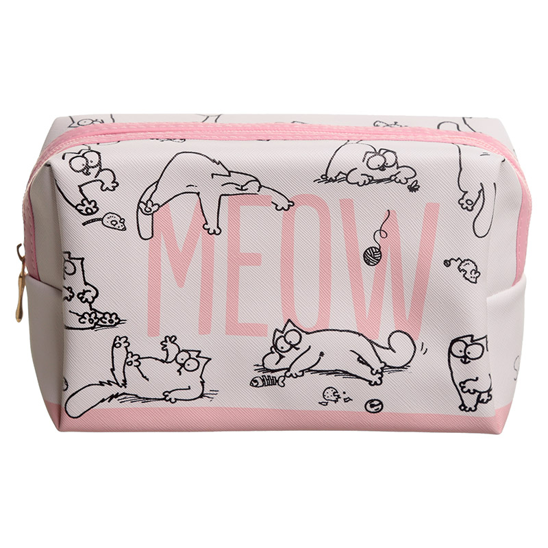 Handy PVC Make Up Toiletry Wash Bag - Simon's Cat