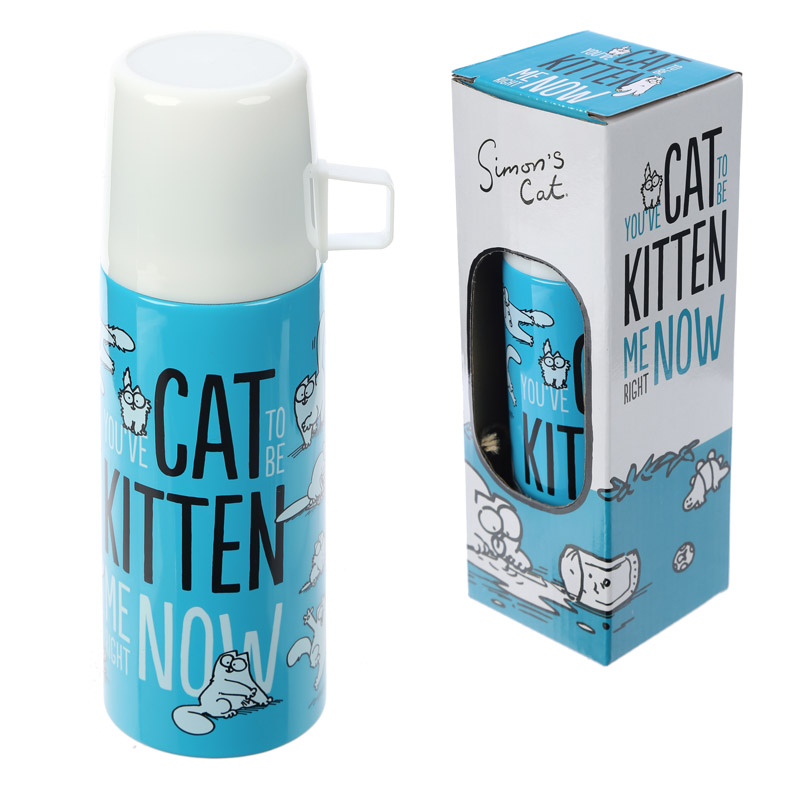 Funky 350ml Flask - Simon's Cat Design