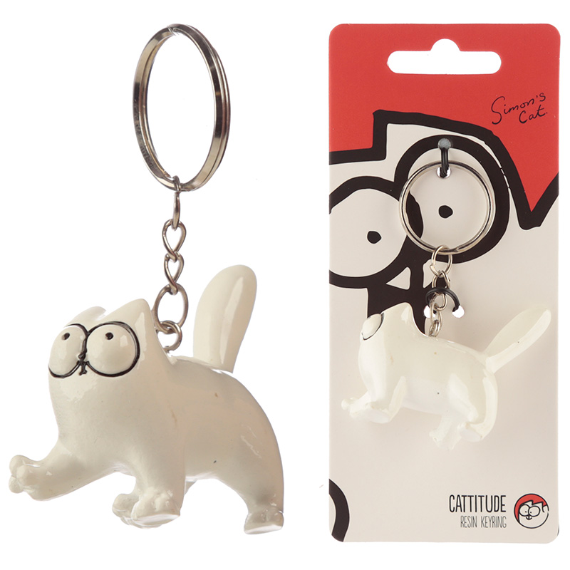 Fun Collectable Simon's Cat Cattitude Keyring