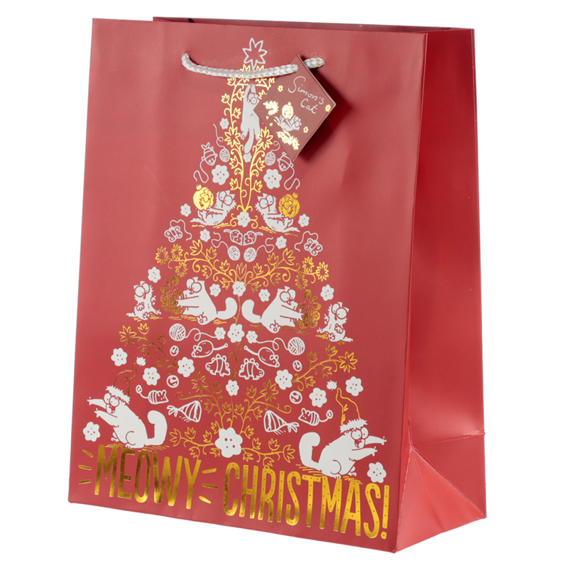 Meowy Christmas Simon's Cat Large Christmas Gift Bag